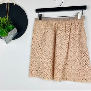 J. Crew Lace A- line skirt with pockets Size 4